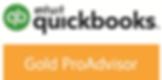 intuit QuickBooks logo, and logo for Silver ProAdvisor