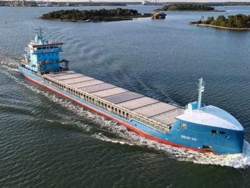 35400 tonnia kipsiä Saimaan kanavan kautta Varsinais-Suomen pelloille