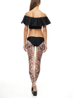 bikini and tattoo leggings back