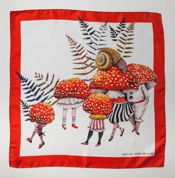 Mushroom Family scarf
