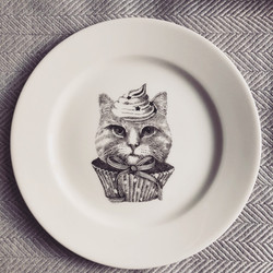Sin on the Beach for SOYKA, cat plate