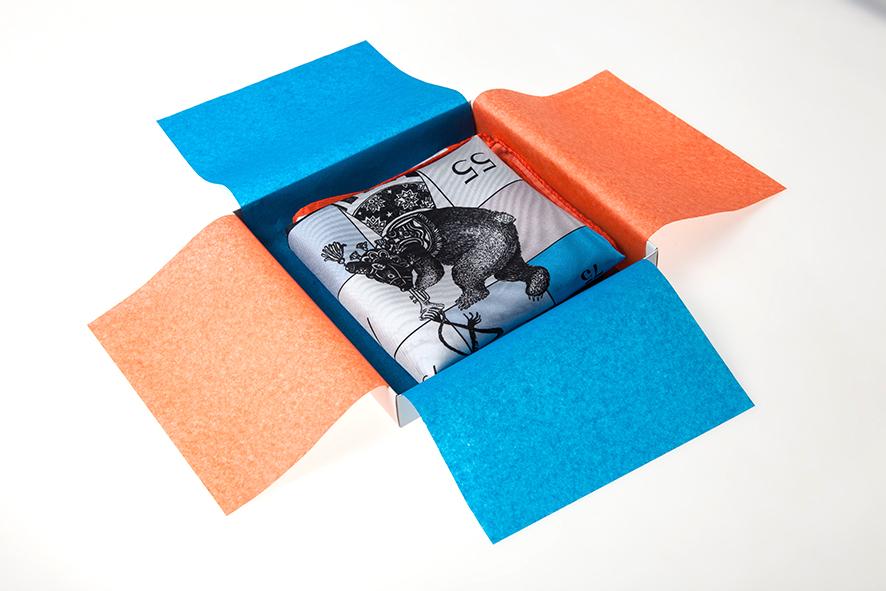 circus scarf in box