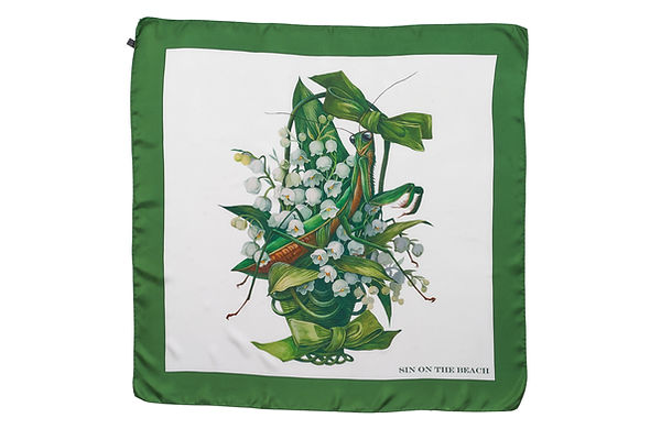 scarf lilly of the valley green