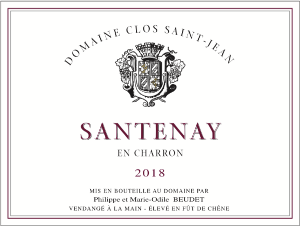 Santenay En Charron - Millésime 2018
