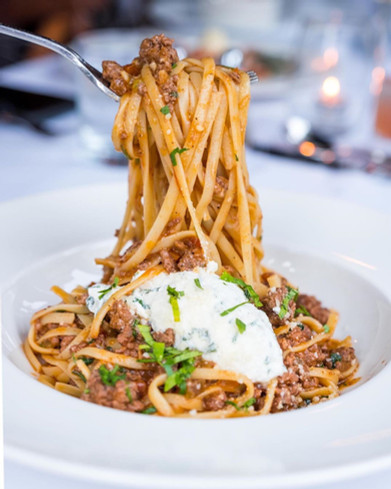 Linguine with Lamb Bolognese