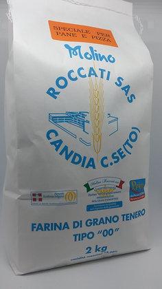 """Farina di Grano Tenero """"00"""" Forte per panificazione (2 Kg.)"""