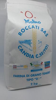 """Farina di Grano Tenero """"0"""" Forte per panificazione (2 Kg.)"""