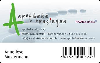 Kundenkarte Apothek Oensingen
