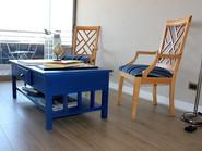 Mesa de centro azul