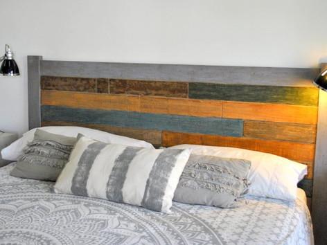 Respaldo de cama tableado