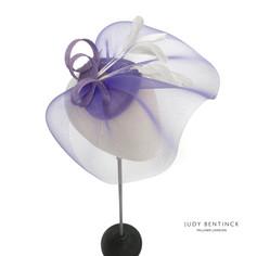 Make Your Own Fascinator Kit - Superior DIY Purple Fascinator Kit by milliner Judy Bentinc