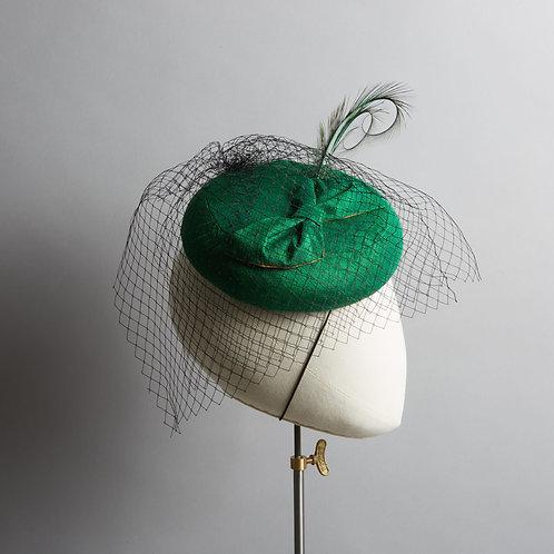 Women's Emerald Green Cocktail Hat - Grace