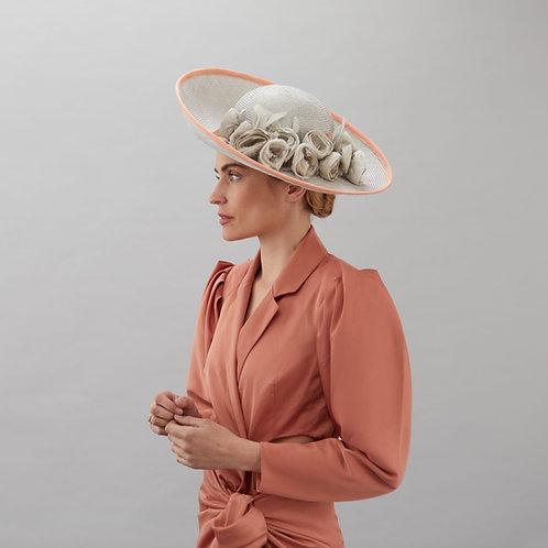 Large silver/grey hat - Sophia, by Judy Bentinck