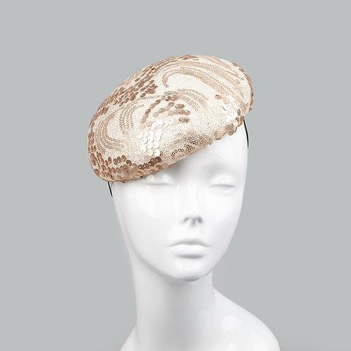 Women's gold sequinned headpiece - Robin