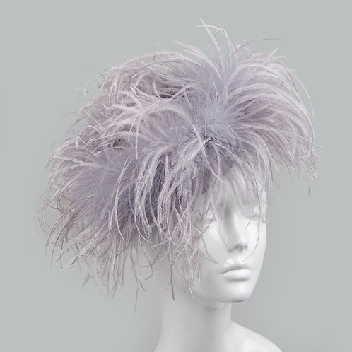 Women's lilac feather cocktail hat - Eva