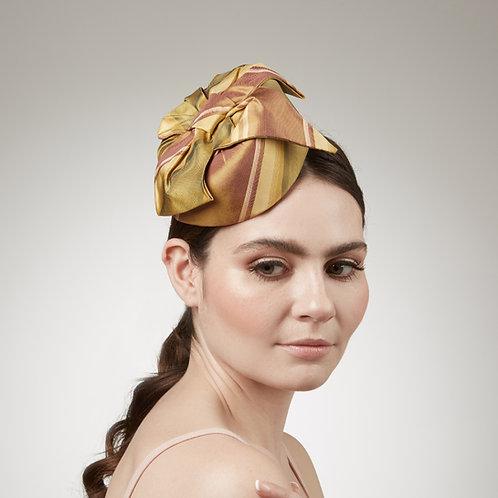 Golden cocktail hat - Eurydice, by Judy Bentinck