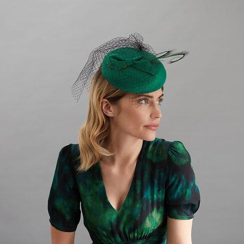 Emerald Green Cocktail Hat - Grace, by Judy Bentinck
