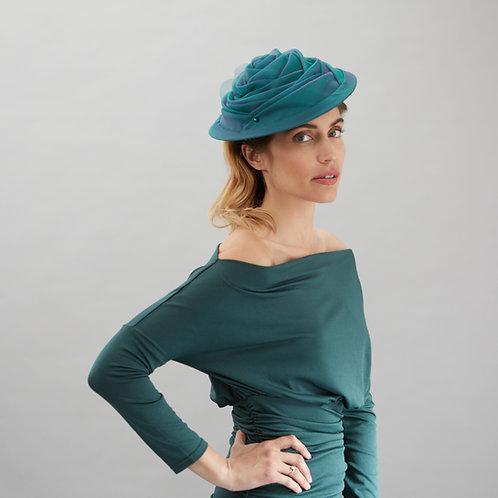Organza draped hat - Julianne, by Judy Bentinck