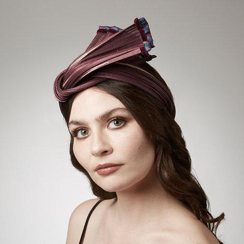 Women's plum colour headband - Artemis