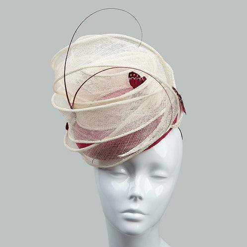Women's cerise & red cocktail hat - Miyu