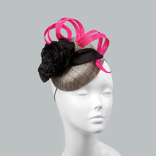 Women's black cocktail hat - Hermia