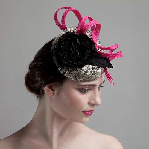 Black cocktail hat - Hermia, by Judy Bentinck
