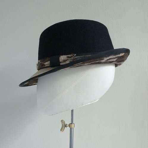 Women's black trilby hat - Maxine