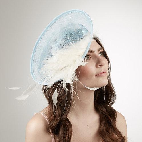 Women's pale blue headband disc - Hyacinthus