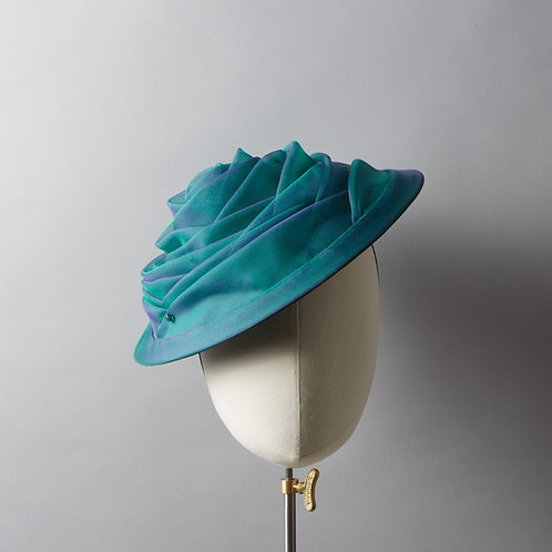 Women's organza draped hat - Julianne