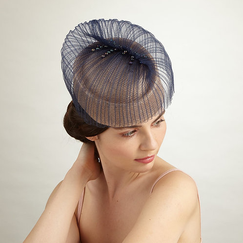 Sand colour cocktail hat - Florence, by Judy Bentinck