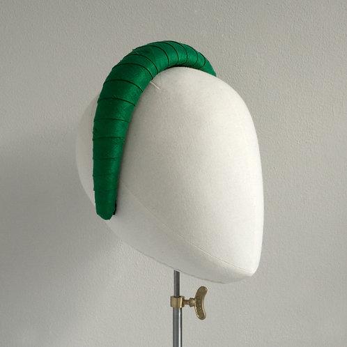 Women's green headband - Valérie