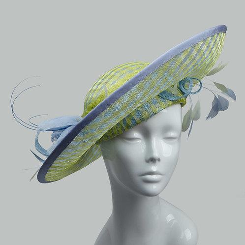 Women's green & blue picture hat - Fuko
