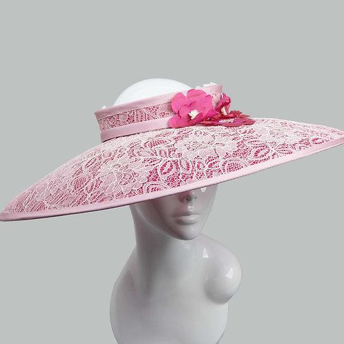 Large pink hat by Judy Bentinck, main image