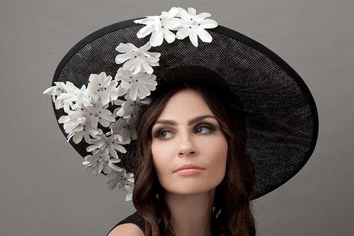 Black Dior net picture hat - Fuuna, by Judy Bentinck