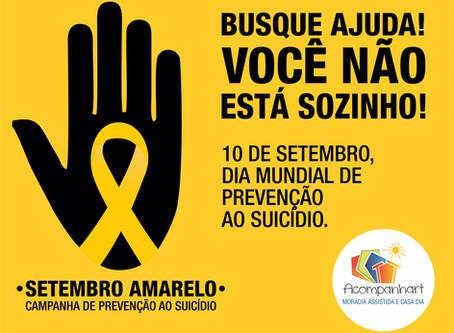Setembro Amarelo - Devemos ajudar na prevenção o ano todo