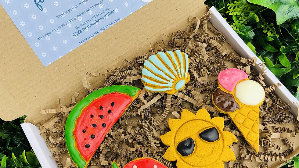 Summer Pawty Cookie Box