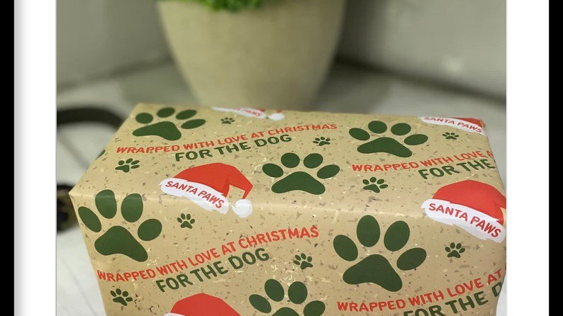Christmas Wrapping Paper For The Dog 🐶