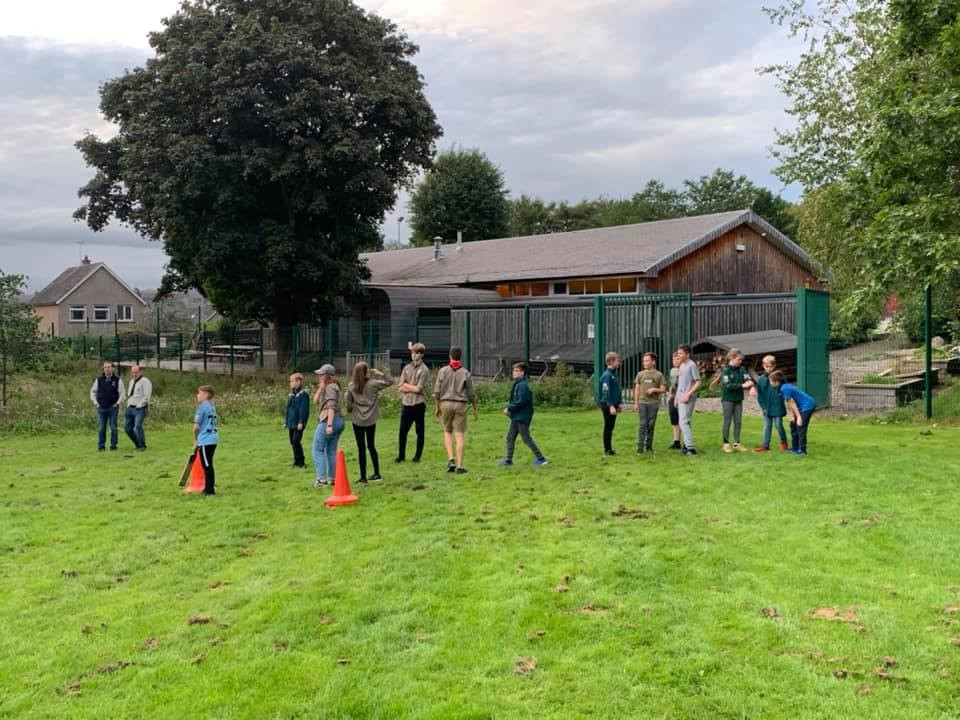 Scouts playing Non-stop cricket