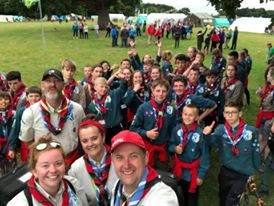Scouts at Jambori