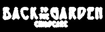 Back to the garden white logo text