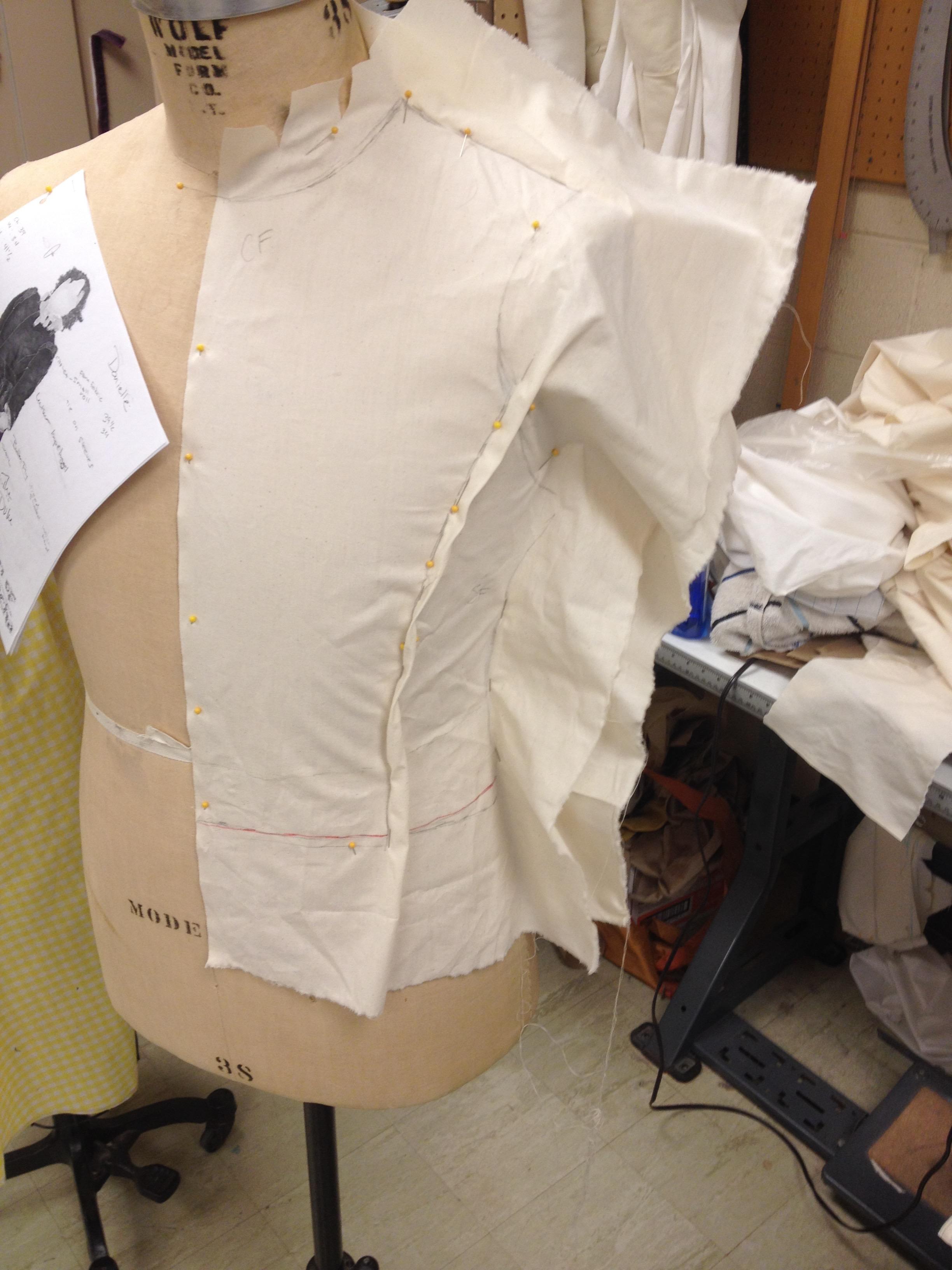 Doublet Front Drape