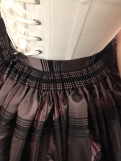 Cartridge Pleating on Skirt