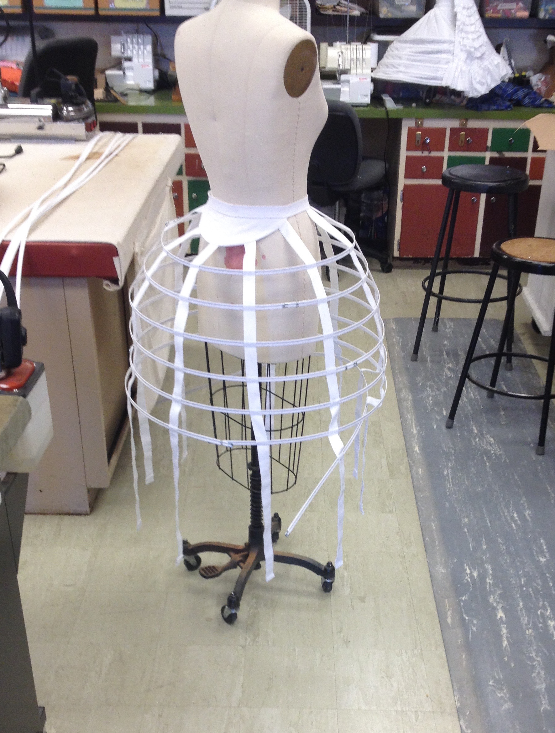 Crinoline in process