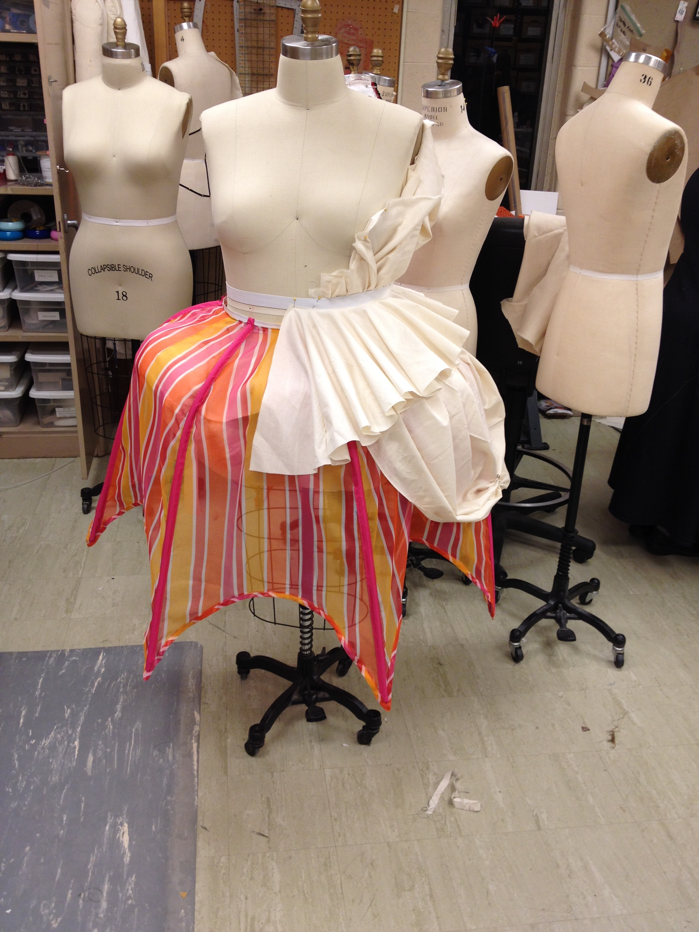 Drape of over skirts