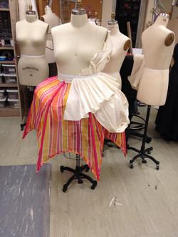 Drape of over skirts