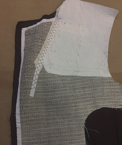 Canvas Front with pad stitching