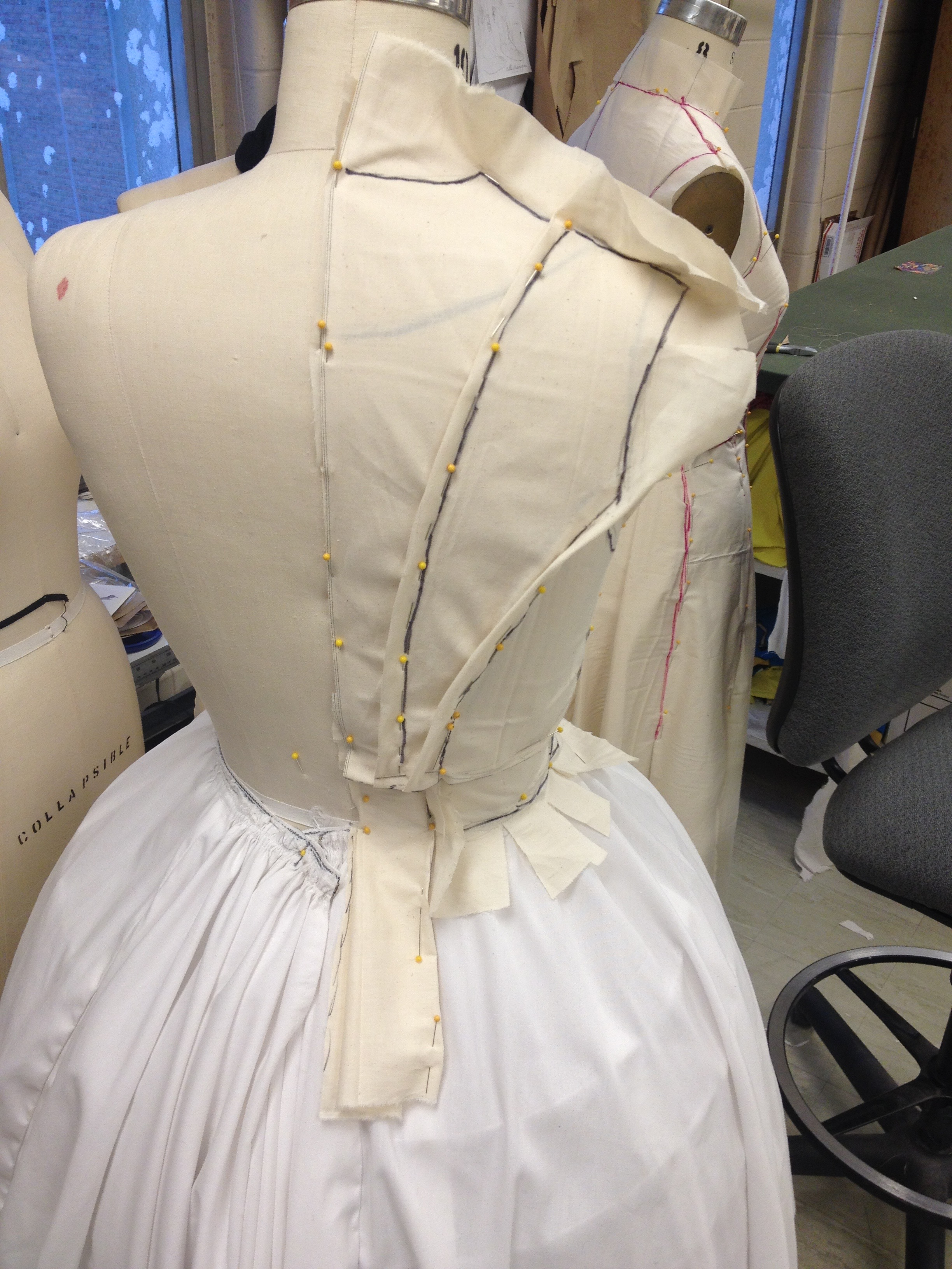 Back Bodice and Jacket Drape