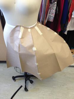 Paper pattern of Umbrella Skirt