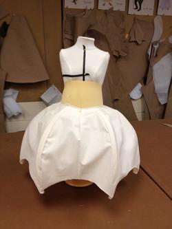 Half size mock up of Umbrella Skirt