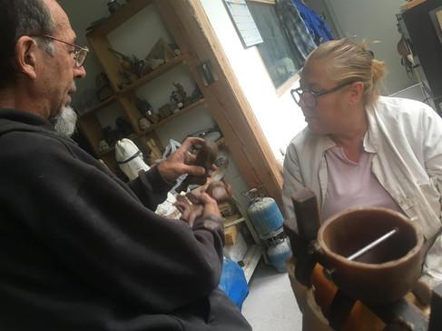 Marc et Carole Montage des cires